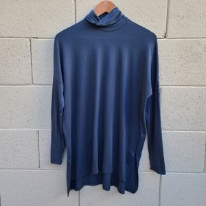 Eileen Fisher   Dark Blue Gray Turtleneck Tunic S